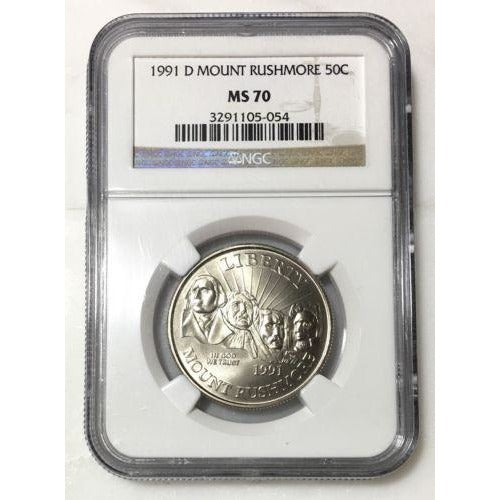 1991 D Mount Rushmore Ngc Ms70 #5054301 Coin