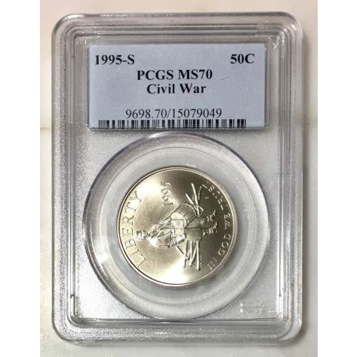 1995-S Civil War Half Dollar Pcgs Ms70 #904990 Coin