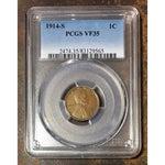 1914 S Lincoln Cent Pcgs Vf35 *rev Tyes* #956555 Coin