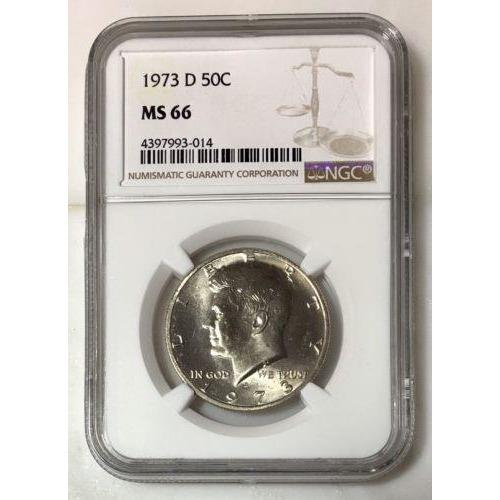 1973 D Kennedy Half Dollar Ngc Ms66 *rev Tyes* #301424 Coin