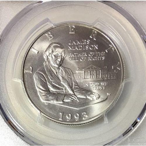 1993 W Madison Half Dollar PCGS MS70 #888360