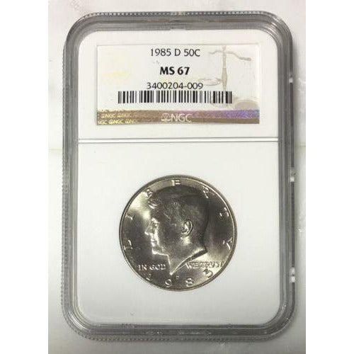 1985 D Kennedy Half Dollar Ngc Ms67 *rev Tyes* #400982 Coin