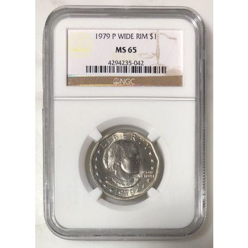 1979 P Wide Rim Susan B Anthony Ngc Ms65 #504253 Coin