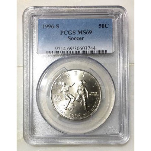 1996 S Soccer Commemorative Pcgs Ms69 #374474 Coin