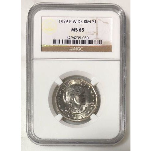1979 P Wide Rim Susan B Anthony Ngc Ms65 #503053 Coin