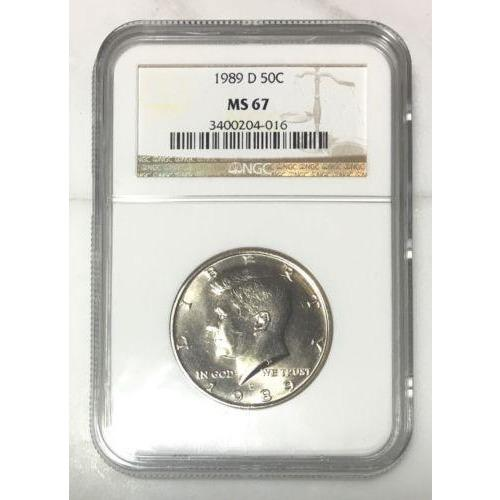 1989 D Kennedy Half Dollar Ngc Ms67 *rev Tyes* #401680 Coin