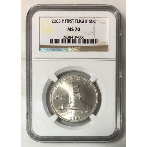 2003 P First Flight Half Ngc Ms70 #900645 Coin