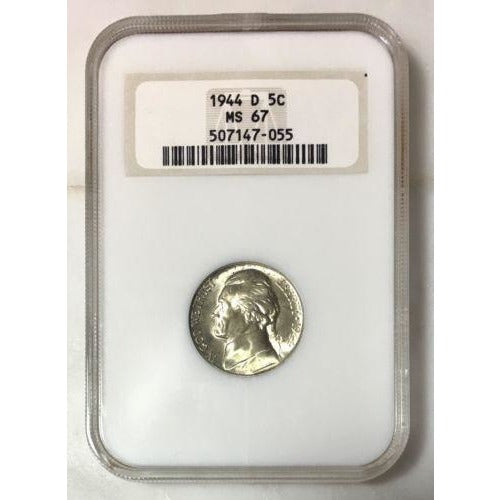 1944 D Jefferson Nickel Ngc Ms67 *rev Tyes* #705540 Coin
