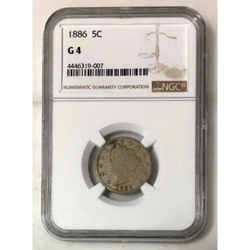 1886 Liberty Nickel Ngc G4 *rev Tyes* #9007190 Coin