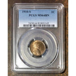 1910 S Lincoln Cent Pcgs Ms64Bn *rev Tyes* #3145150 Coin