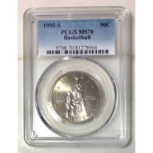 1995 S Basketball Half Dollar Pcgs Ms70 #896650 Coin