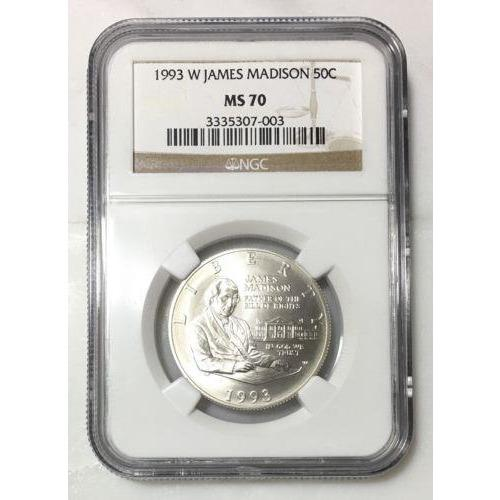 1993 W James Madison 50C Ngc Ms70 #700379 Coin