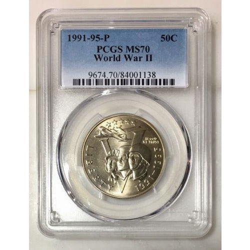 1991-95 P Wwii Half Dollar Pcgs Ms70 #113895 Coin