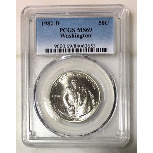 1982 D Washington Commemorative Pcgs Ms69 *rev Tyes* #365360 Coin