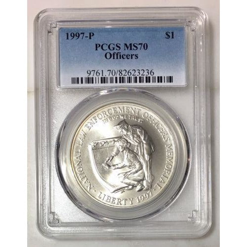 1997 Officers Dollar Pcgs Ms70 #3236189 Coin