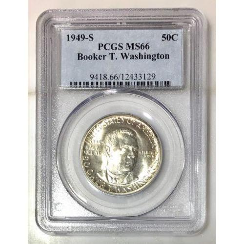 1949 S Booker T. Washington Half Pcgs Ms66 *rev Tyes* #3129150 Coin