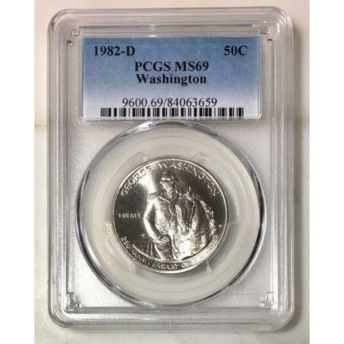 1982 D Washington Commemorative Pcgs Ms69 *rev Tyes* #365960 Coin