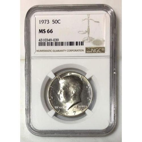1973 Kennedy Half Dollar Ngc Ms66 *rev Tyes* #903988 Coin