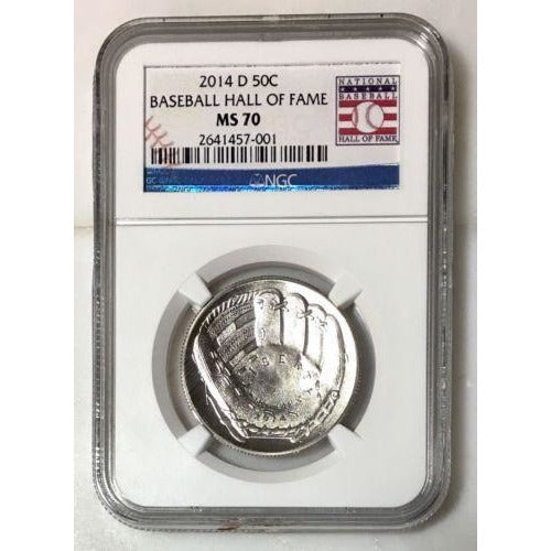 2014 D Baseball Hall Of Fame Half Dollar Ngc Ms70 #700150 Coin