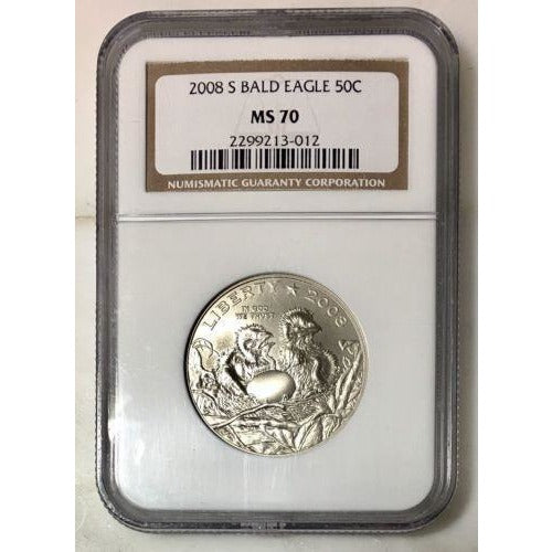 2008 S Bald Eagle Half Dollar Ngc Ms70 #301235 Coin