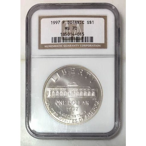 1997 P Botanic Dollar Ngc Ms70 #4015117 Coin