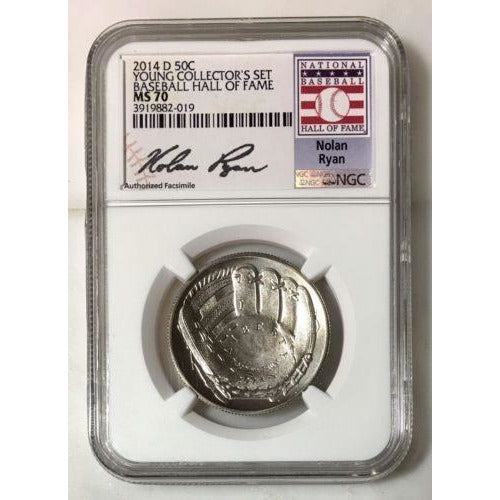 2014 D Baseball Hall Of Fame Half Dollar Ngc Ms70 #201959 Coin