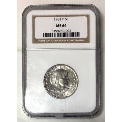 1981 P Susan B Anthony Dollar Ngc Ms66 #000234 Coin