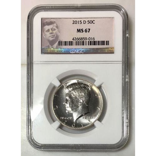 2015 D Kennedy Half Dollar Ngc Ms67 *rev Tyes* #9016 Coin