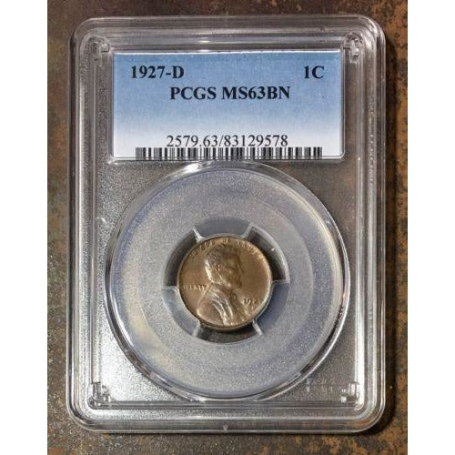 1927 D Lincoln Cent Pcgs Ms63 Rd *rev Tyes* #957893 Coin