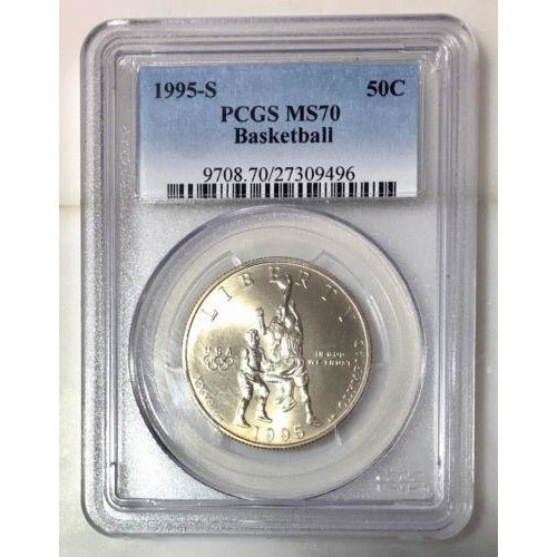 1995 S Basketball Half Dollar Pcgs Ms70 #949650 Coin