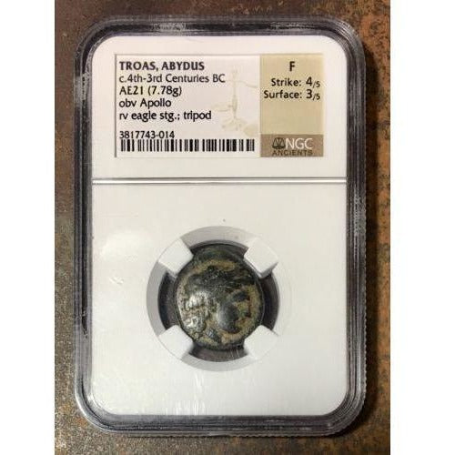 Troas Abydus C.4Th-3Rd Centuries Bc Ngc F #301481 Coin