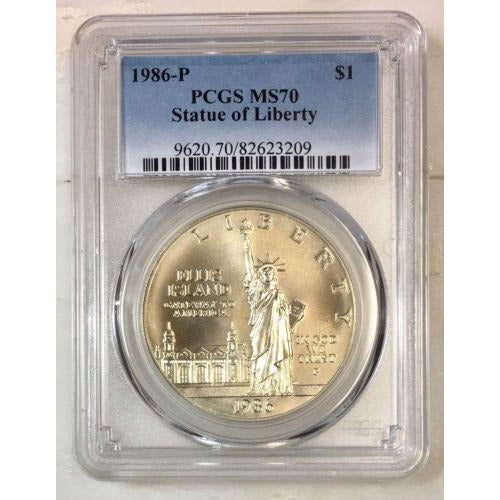 1986 Statue Of Liberty Dollar Pcgs Ms70 *rev Tyes* #320973 Coin