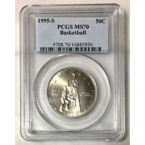 1995-S Basketball Half Dollar Pcgs Ms70 #595050 Coin