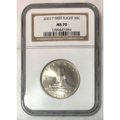 2003 First Flight Half Dollar Ngc Ms70 #703446 Coin