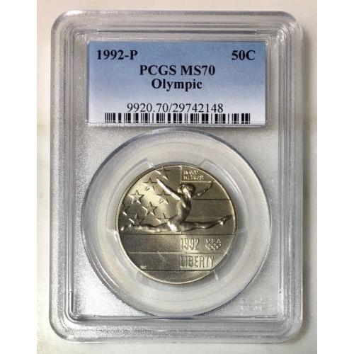 1992 Olympic Half Pcgs Ms70 #214830 Coin