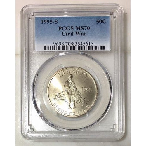 1995 S Civil War Half Dollar Pcgs Ms70 #561590 Coin
