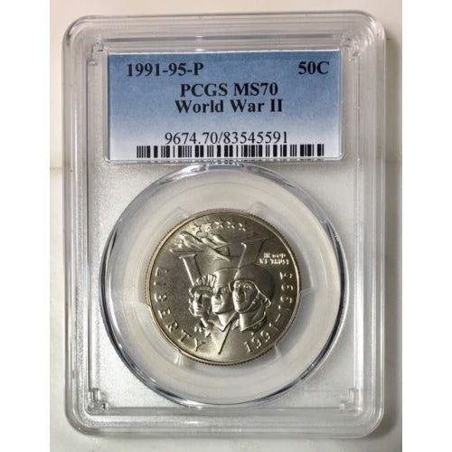 1991-95 P World War Ii Commemorative Pcgs Ms70 #559195 Coin