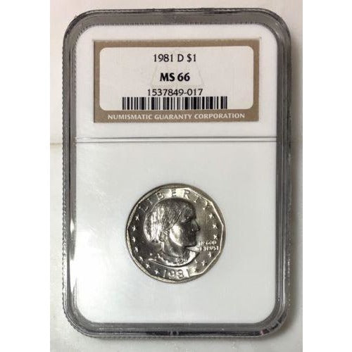 1981 D Susan B Anthony Ngc Ms66 #9017 Coin