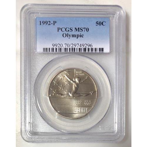 1992 Olympic Half Dollar Pcgs Ms70 #929630 Coin