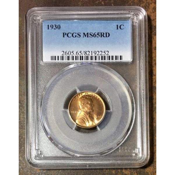 1930 Lincoln Cent Pcgs Ms65Rd *rev Tyes* #225241 Coin