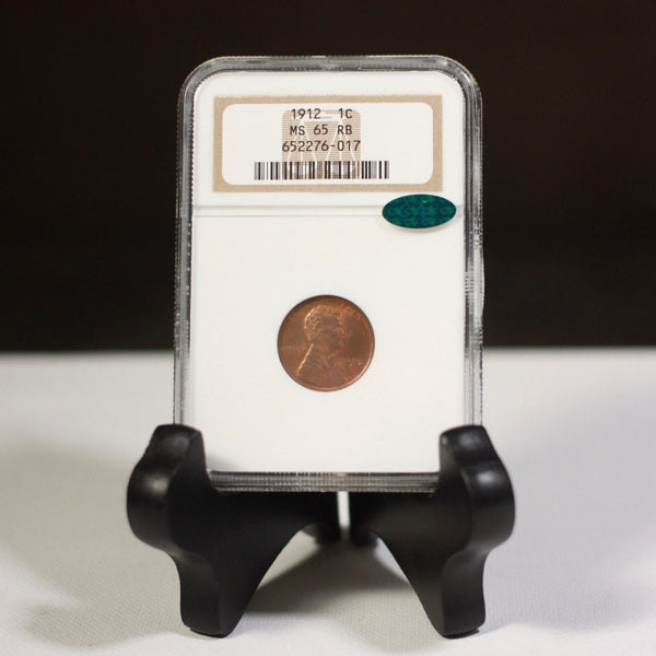 1912 Lincoln Cent Ngc & Cac Ms65 Rb *rev Tyes* #6017325 Coin