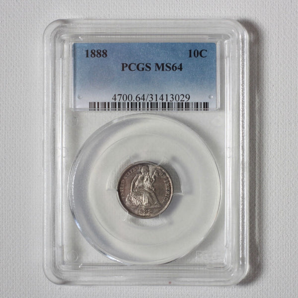 1888 Seated Liberty Dime Pcgs Ms64 *rev Tyes* #3029321 Coin