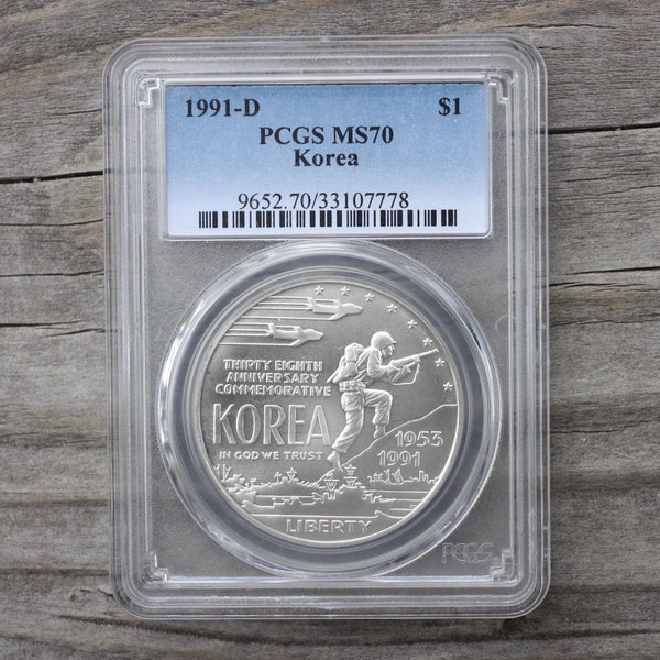 1991 D Korea Pcgs Ms70 *rev Tyes* #777881 Coin