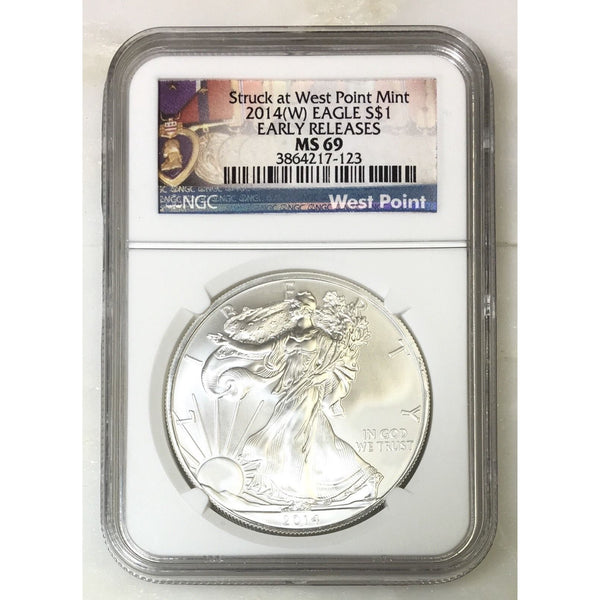 2014 W Silver Eagle Ngc Ms69 #712340 Coin