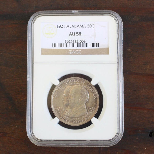 1921 Alabama Commemorative Ngc Au58 *rev Tyes* #2009143 Coin