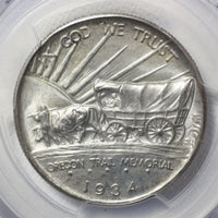 1934 D Oregon Half Dollar Pcgs Ms66 *rev Tyes* #1007 Coin