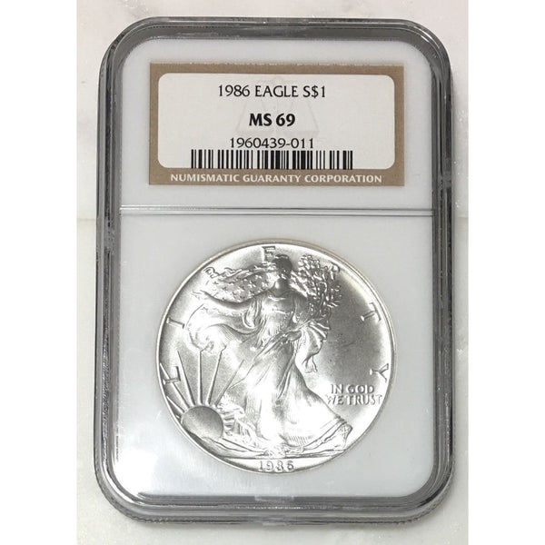 1986 Silver Eagle Ngc Ms69 #901151 Coin