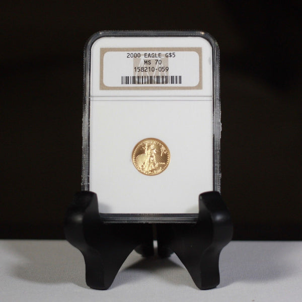 2000 Gold $5 Eagle Ngc Ms70 *rev Tyes* #0059190 Coin