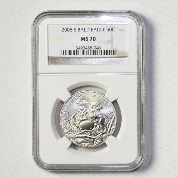 2008 S Bald Eagle Half Dollar Ngc Ms70 #804640 Coin