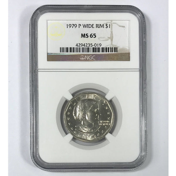 1979 Susan B Anthony Ngc Ms65 Wide Rim *rev Tyes* #501953